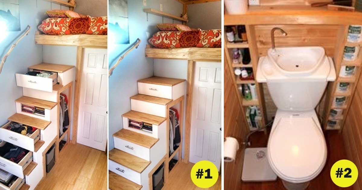 17 super clever storage ideas for your tiny home - Small house storage ideas ...